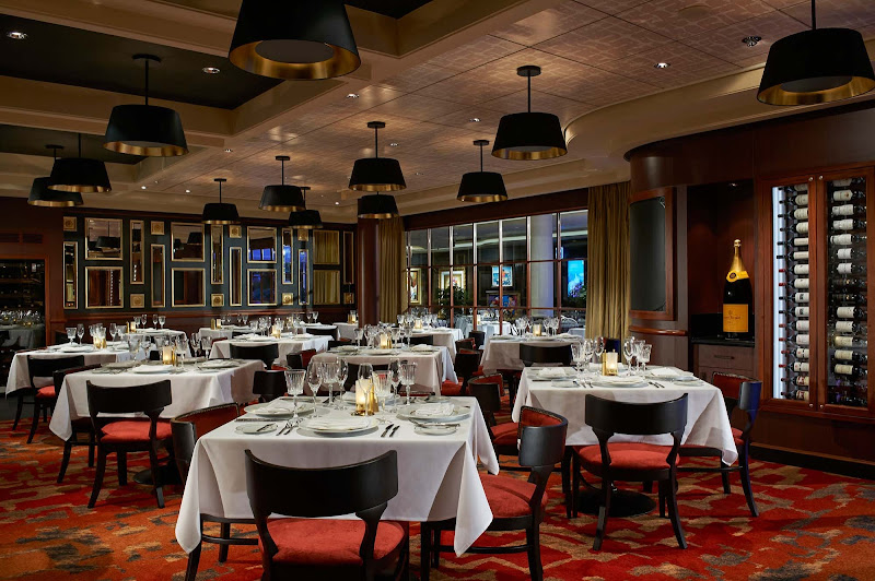 Le Bistro, a specialty restaurant, serves French-inspired cuisine aboard Norwegian Escape.