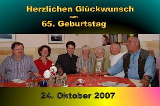 Photo: Theo hat anlässlich seines 65. Geburtstages zum Essen in den Gasthof Stark nach Tauberfeld eingeladen.