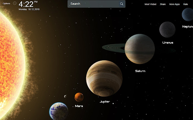 Solar System Wallpapers Theme New Tab