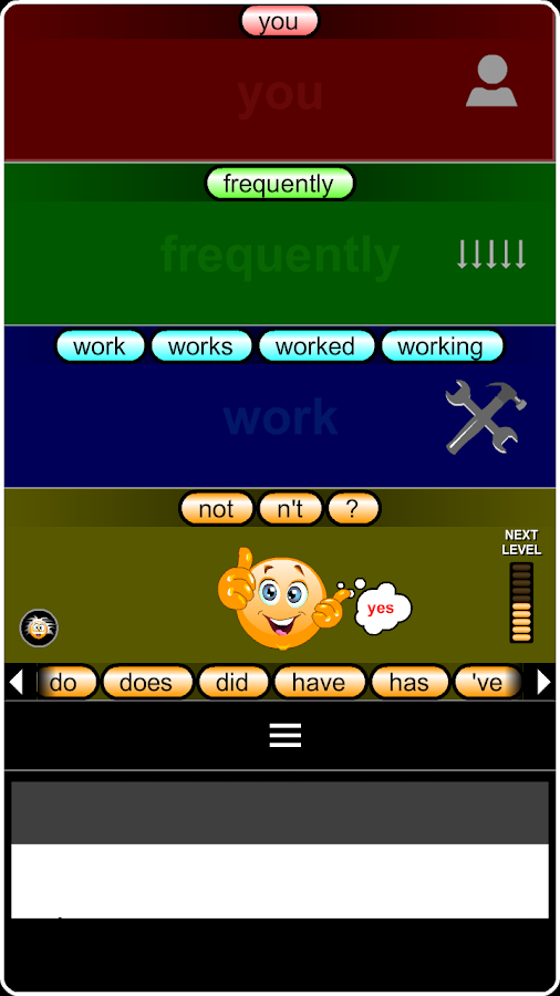 Verb Tense Driller- screenshot