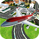 Tourist Airplane Flight Pilot Simulator 2017 3D icon
