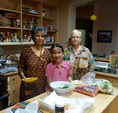 Photo: in the kitchen with pakoras.jpg
