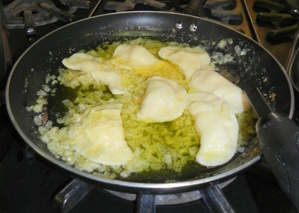 Have a pan ready with your onion & garlic sauce.....cook up those onions &...