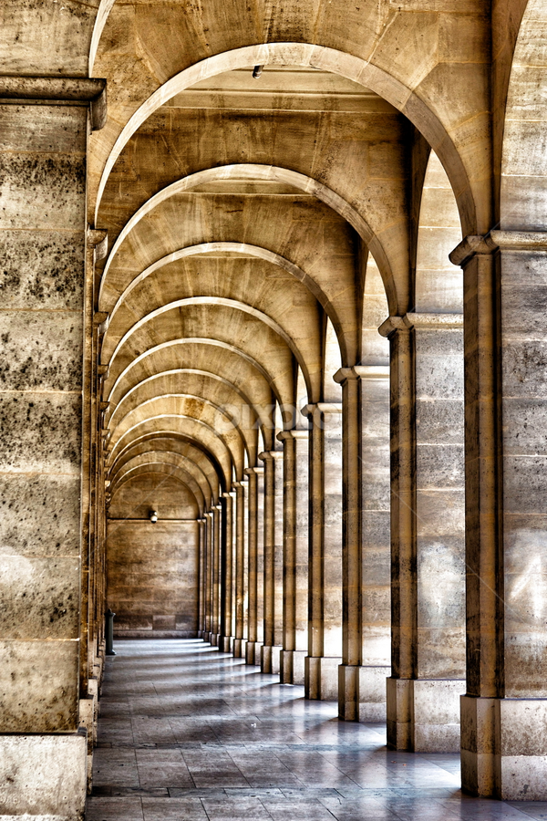 Arch Mania by Ali Brown - Buildings & Architecture Other Exteriors ( paris, building, pattern, arches, stone, symmetry )
