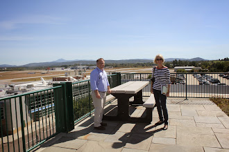 Photo: America's nicest airport, with its manager (and visitor), Burlington VT