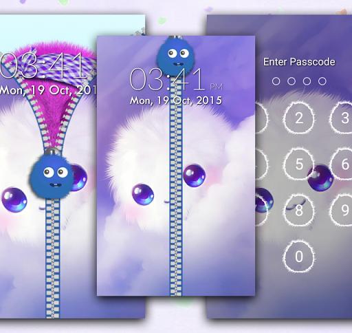 個人化必備免費app推薦|Fluffy Zipper Screen Lock線上免付費app下載|3C達人阿輝的APP
