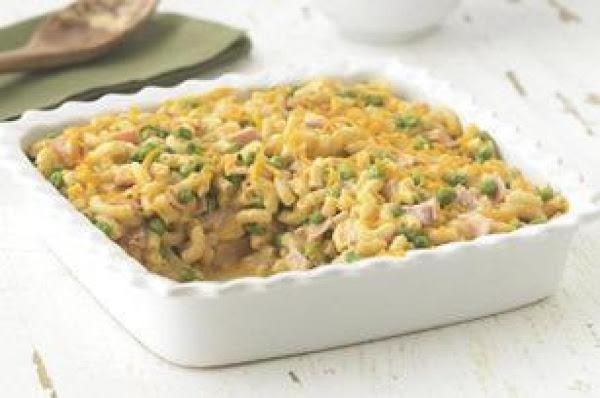 Easy Cheddar Macaroni And Ham Casserole Recipe