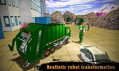 Real Robot Transformation Garbage Truck Driving 3D 5