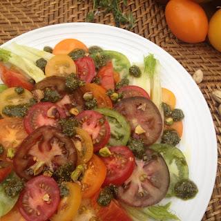 Vegan Heritage Tomato & Fennel Salad with Pistachio Pesto