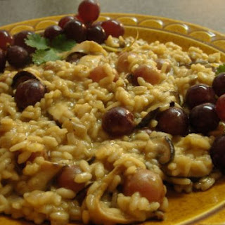 Vegetarian Grape And Mushroom Risotto