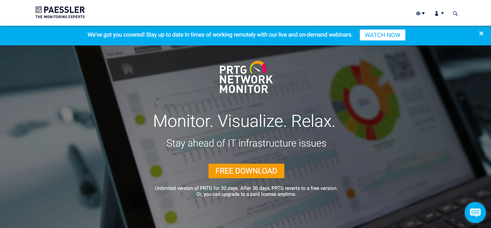 PRTG Network Performance Monitoring Tool