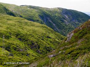 Photo: Jordalsskaret, in Byfjellene, the mountains surrounding Bergen
