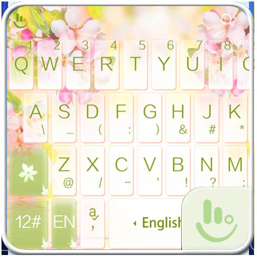 White Jasmine Keyboard Theme