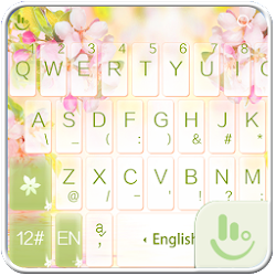 White Jasmine Keyboard Theme