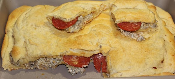 Sausage Cream Cheese Crescent Roll Bake Recipe