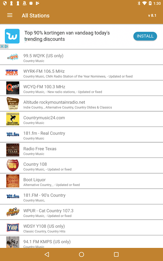 Country Music RADIO- screenshot