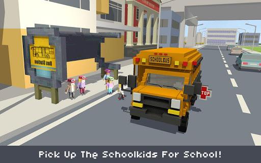 Blocky School Bus Simulator Craft 1.4 screenshots 1
