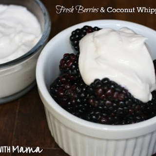 Coconut Whipped Cream with Fresh Berries