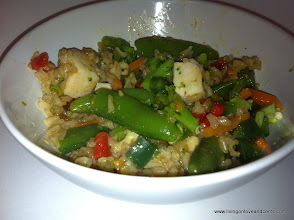 Photo: Day 5: Ginger Stir Fry with Chicken and jalapenos and red pepper.