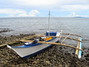 Photo: Our pumpboat, ready for diving