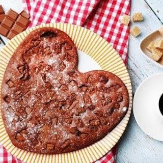 Chocolate pie for Valentine's Day