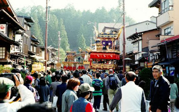 Photo: Takayama. A festival in 1999.