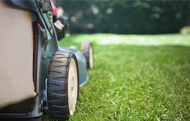 side profile of a lawnmower