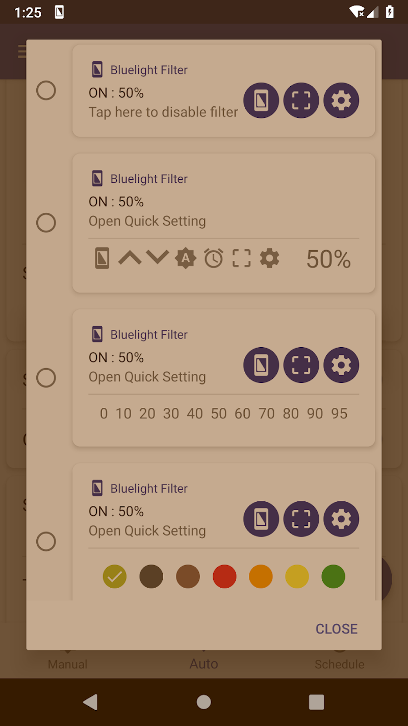Bluelight Filter for Eye Care - Auto screen filter Screenshot 4