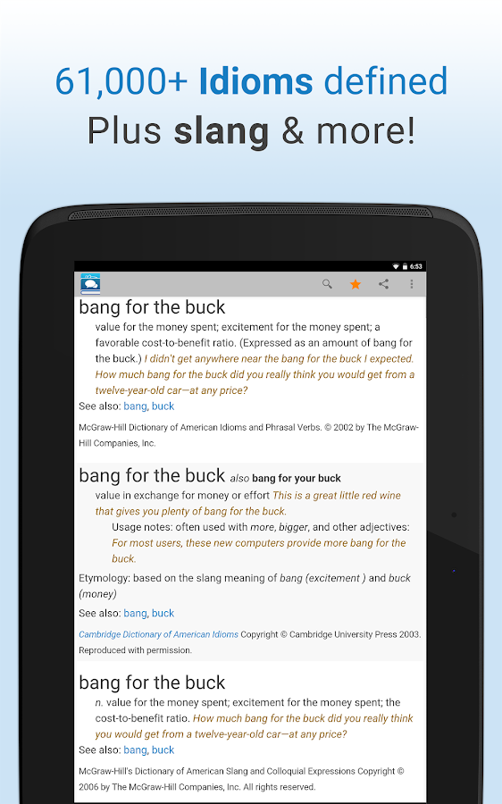 Idioms and Slang Dictionary- screenshot