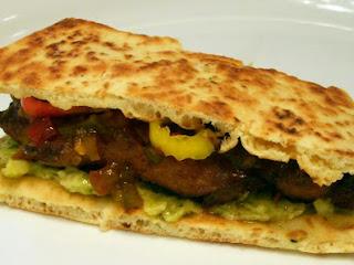 Sticky Chicken Naan Sandwich Recipe