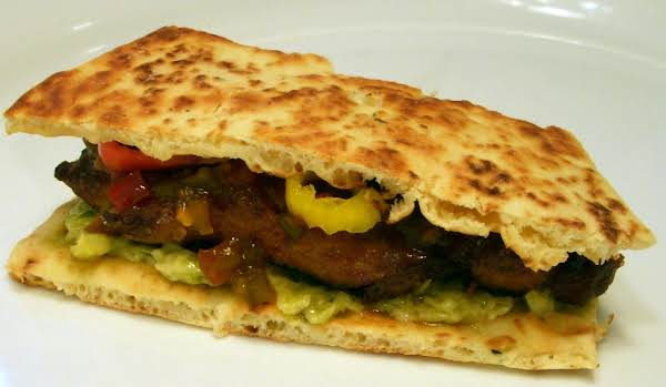 Sticky Chicken Naan Sandwich Recipe