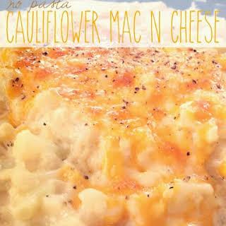 No Pasta Cauliflower Mac N Cheese.