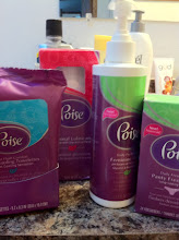 Photo: Here's a shot of the four Poise products I was able to find.