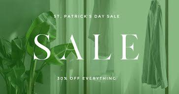 St. Patrick's Day Sale - St. Patrick's Day Template