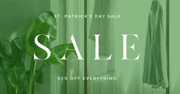 St. Patrick's Day Sale - St. Patrick's Day Template