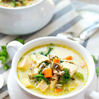 Creamy Leftover Turkey Wild Rice Soup