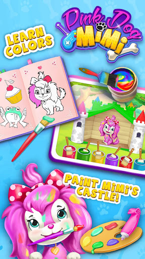 Pink Dog Mimi - My Virtual Pet