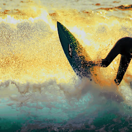 Surf's up 02 by Gary Parnell - Sports & Fitness Surfing ( victoria, the colonnades, ocean, surfing, beach, australia, phillip island, cape woolamai )