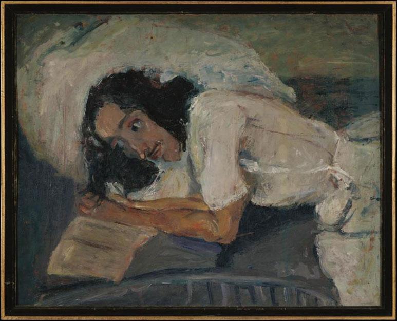 Хаим Сутин. Читающая женщина.