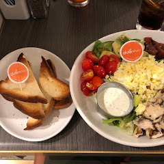 GF toast and chicken cobb salad
