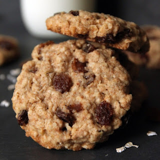 100% Whole Grain Chewy Oatmeal Raisin Cookies.