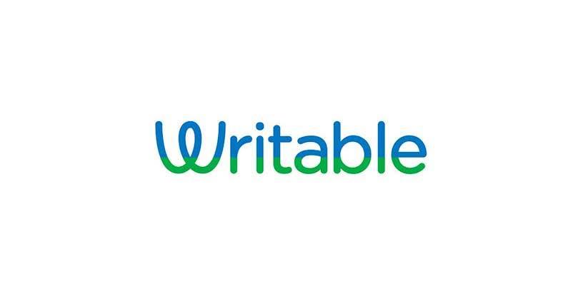 Writable logo