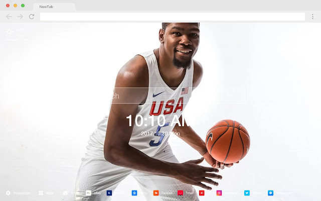 Kevin Durant New Tab HD Basketball Themes