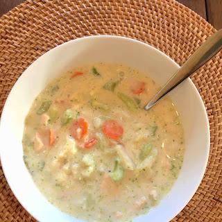Creamy Cauliflower Chicken Soup.