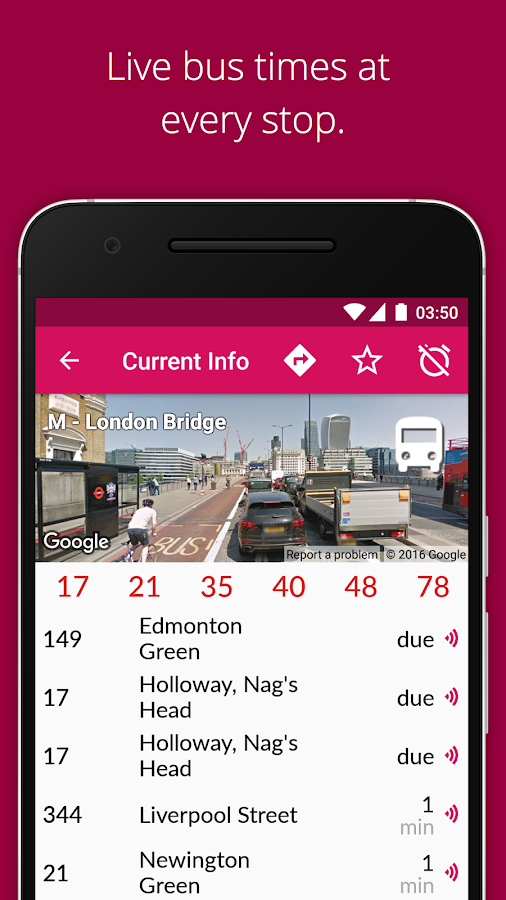 Screenshots of London Bus Checker Live Times for iPhone