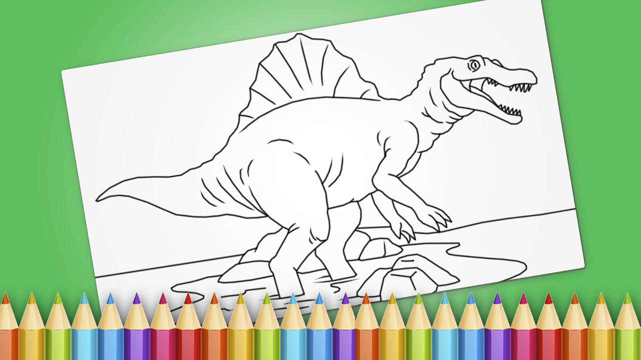 Dinosaurs Coloring Book Game Screenshot