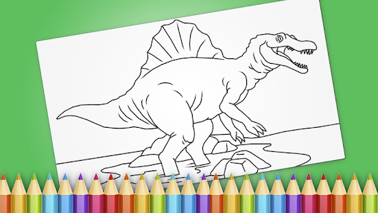 Dinosaurs Coloring Book Game
