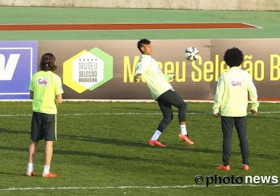 Marcelo et Neymar font le show à l'entraînement de la Seleçao