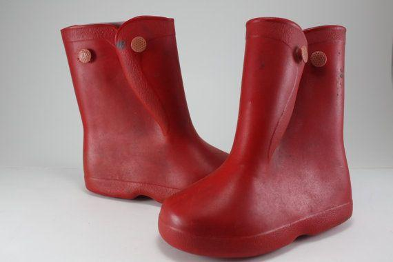 Image result for 1950s galoshes worn over shoes children school