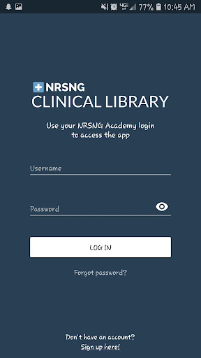 NRSNG Clinical Library screenshot for Android